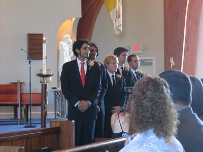 Awaiting the bride: Dave, Don, Matt, Lee, & Rhyan