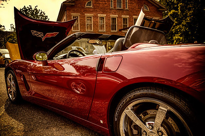 Corvettes at Roscoe Village 2013. Photographed at Roscoe Village in Coshocton, Ohio on June 9, 2013.