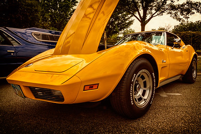 1973 Corvette photographed during the 21st Blast of the Past Car Show in downtown Delaware, Ohio on July 26, 2014.