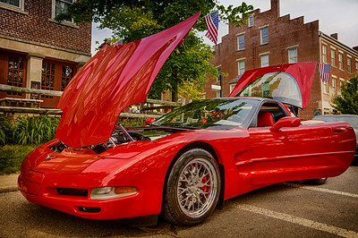 1997 Corvette at Roscoe Village 2013. Photographed at Roscoe Village in Coshocton, Ohio on June 9, 2013.