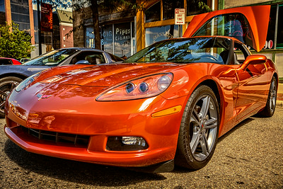Corvette Gathering 2013 in downtown Lancaster, Ohio in Fairfield County. Photographed on July 14, 2013