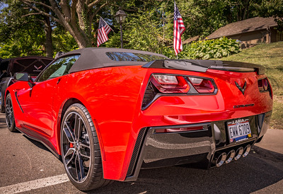 2015 Corvette photographed at the Corvettes at Roscoe Village in Coshocton, Ohio on June 12, 2016. Photo by Joe Frazee.