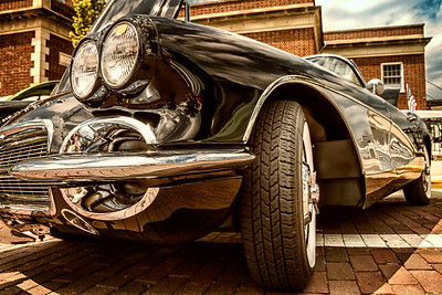 1961 Corvette photographed during the Dan Emmett Music & Arts Festival in downtown Mount Vernon, Ohio on August 11, 2013.