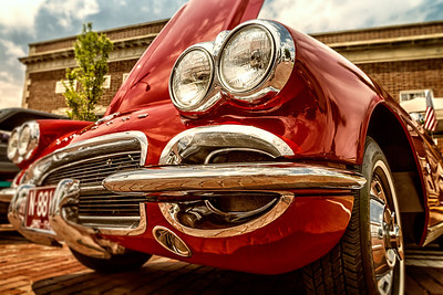 1962 Corvette photographed during the Dan Emmett Music & Arts Festival in downtown Mount Vernon, Ohio on August 11, 2013.
