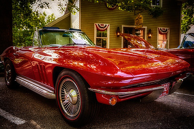 1966 Corvette at Roscoe Village 2013. Photographed at Roscoe Village in Coshocton, Ohio on June 9, 2013.