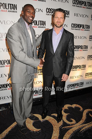 Terrell Owens,Gerard Butler<br /> photo by Rob Rich © 2010 robwayne1@aol.com 516-676-3939