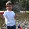 Spencer fishing in the Lemo's creek.