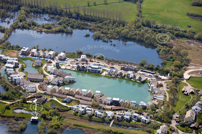Cotswold Water Park from the air.