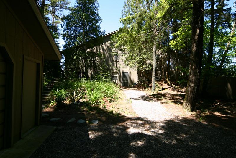 Road side of cottage