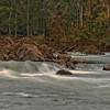 Roanoke River Falls near Old Carolina Cotton Mill Park in Weldon