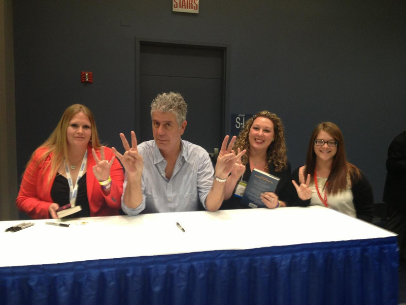 Chef A  Bourdain with students