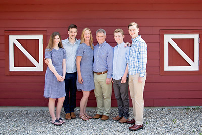 Family by Barn