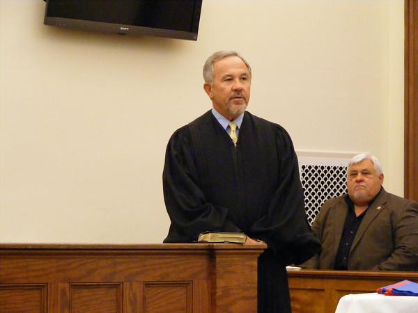 Judge David Fina, left and Suwannee County Sheriff Tony Cameron.
