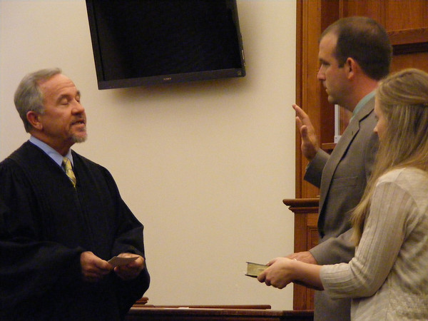 Ricky Gamble Jr., was sworn in and will take his place on the board of county commissioners to serve in District 3.