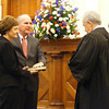 Jerry Scarborough was sworn in to serve his second term as superintendent of schools.