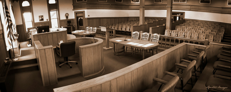 Jersey County Courthouse: Courtroom from Jury Box (2014)