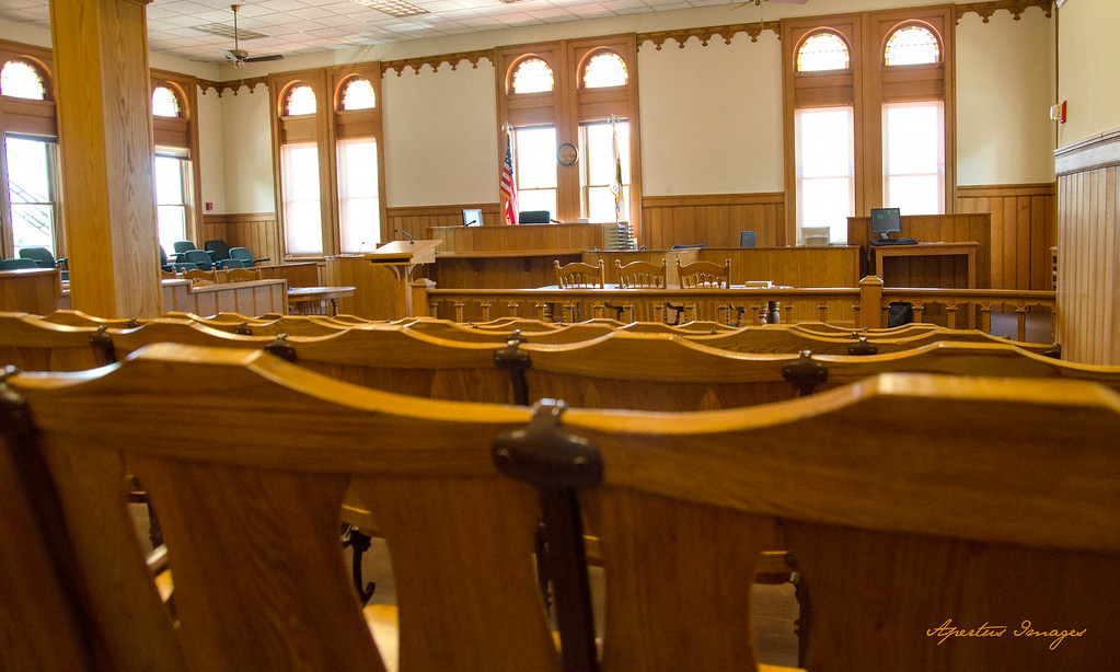 Jersey County Courthouse: Courtroom from Back Row (2014)