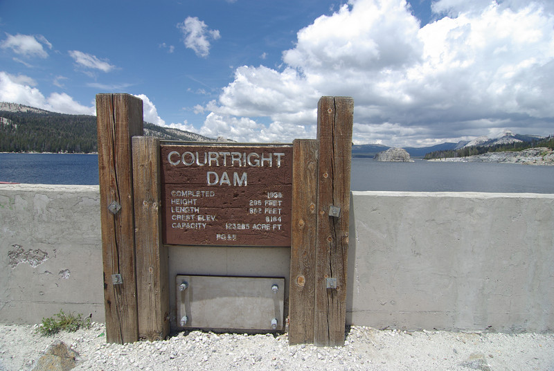 Courtright Dam Info