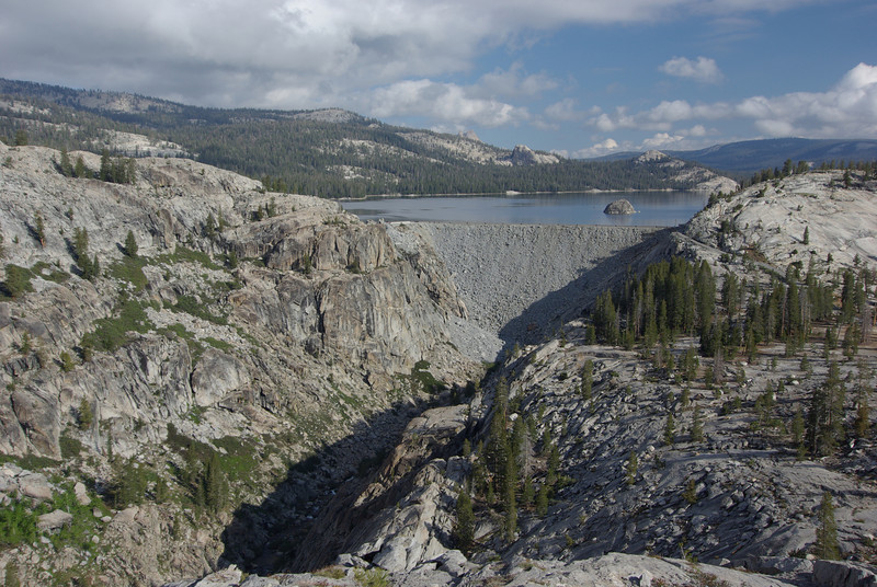 Looking @ the Courtright Reservoir Dam 6-14-2009