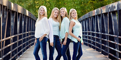 Four sisters on a bridge