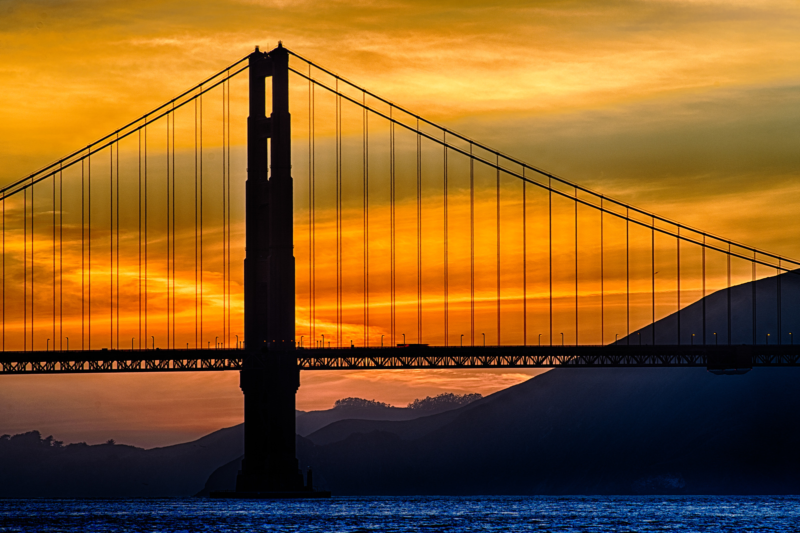 Fire Consumes Bridge