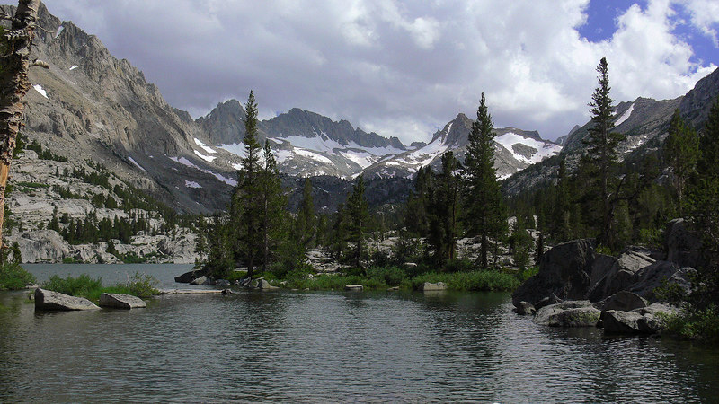 The afternoon hike from Lake Sabrina leads me to Blue Lake, a perfect gem lying underneath rugged Thompson Ridge. This is another 16:9 aspect photo taken by the FZ30.
