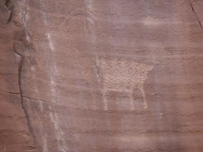 Well-worn petroglyph.
