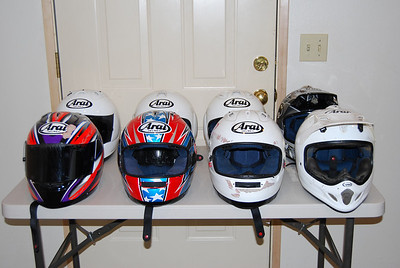 crashed helmets