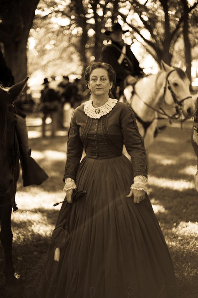 Civil War reenactment - Soldier's camp