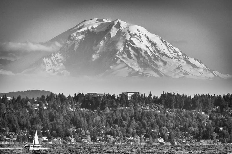 Mount Rainier from Lake Washington, Kirkland, Washington