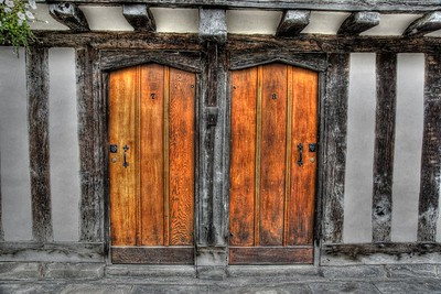 Some old doors in Stratford upon Avon