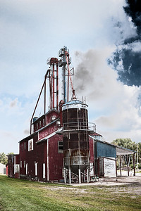 The old feed supply building in Butler, Ohio. (Photoshop Effect)