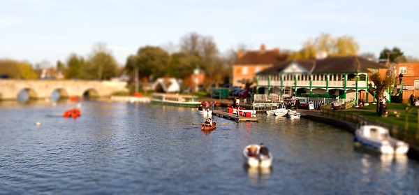 Toy Boats on the Avon at Stratford