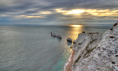 The Needles at sunset