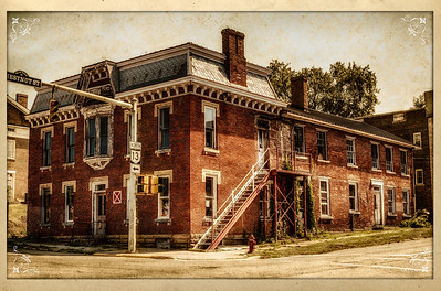 Building on corner of 100 North Main Street and Chestnut Street in Mount Vernon, Ohio. Shot on July 11, 2012.