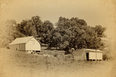 Photo of a farm along the Kokosing Gap Trail in Knox County near Gambier, Ohio. (Vintage Effect)