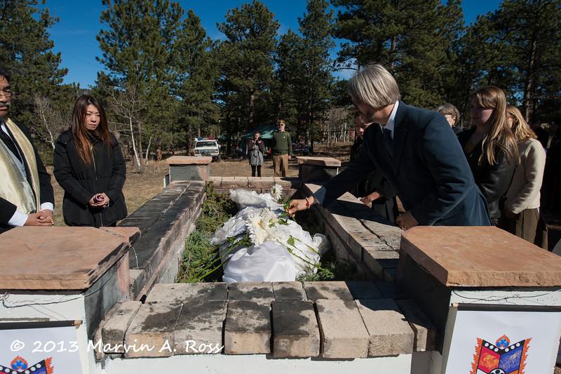 Cremation of Shibata Sensei