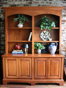 "#10 Reduced $395 Large Bookcase/Credenza:  $450  Solid wood, nicely constructed. 24"" D x 6'2"" W x 95"" H"