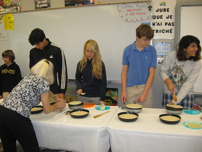 2012.2.2 Crepe Day in French Class