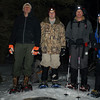 The crew leader training team summitts Eagle Mountain, highest point in Minnesota at 3:15 am on Saturday morning.