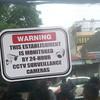 Warning sign at Cepalco