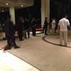 Members of Swatl, police at Shangrila hotel entrance