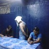 Arrested suspect former PO3 Geoffrey Borinaga refused to talk to the media Thursday. (Photo by Armie Garde of Sunnex)