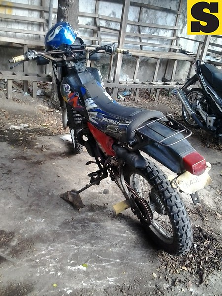 The motorcycle allegedly used by the suspect on Thursday is now in the custody of the Cebu City Police Office. (Photo by Armie Garde of Sunnex)