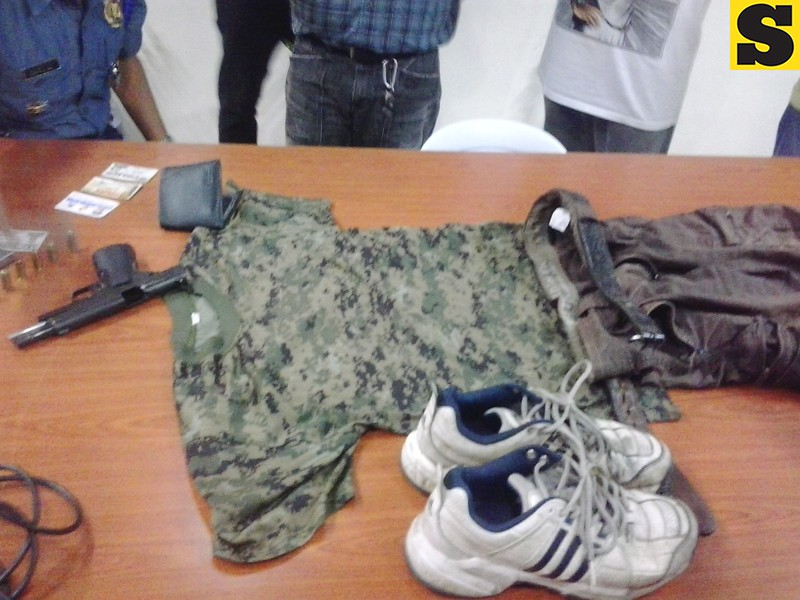 Some of the evidences gathered on Thursday following the killing of Cebu City traffic enforcer Armando Daligdig on Thursday. (Photo by Armie Garde of Sunnex)
