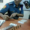 The seven remaining bullets of the caliber 45 pistol allegedly used by the suspect to kill the Cebu traffic enforcer.  (Photo by Armie Garde of Sunnex)