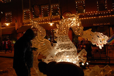 Adding the Dragons Wing - Cripple Creek, CO Ice Festival