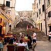 Dining al fresco, Dubrovnik, July 2008