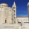 St Donatus byzantine church in Zadar, over 1200 years old with older roman marble columns