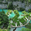 The UNESCO world heritage Plivice park with travertine lakes and waterfalls in Croatia.